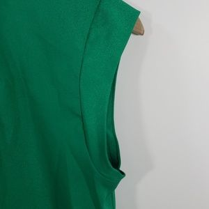 The Limited Tops - The limited- Green Blouse with Keyhole w/clasp